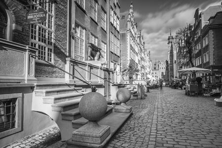 Architecture of Mariacka street in Gdansk