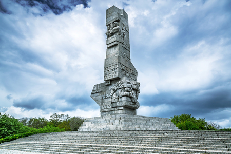 Westerplatte Monument in memory of the Polish defenders