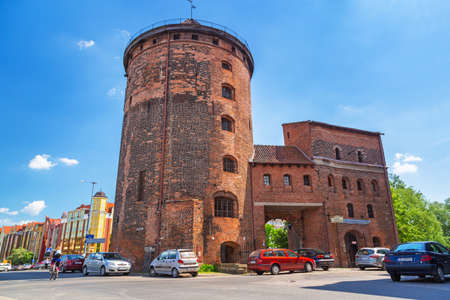 15th century: 15th century fortification tower and gate to the old town of Gdansk