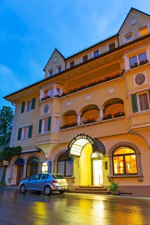 neuschwanstein: Hotel Muller in Hohenschwangau village at Neuschwanstein Castle, Germany