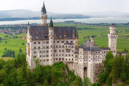 schwangau: Neuschwanstein Castle in the Bavarian Alps, Germany