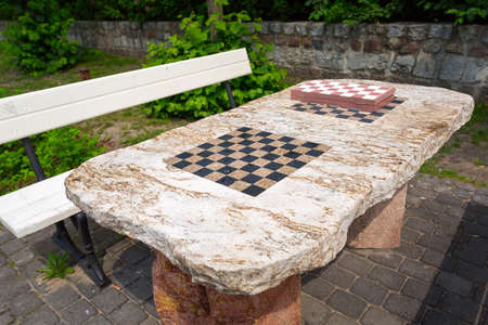 Park Chess Table In Sopot, Poland