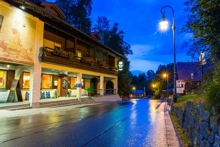 neuschwanstein: Bavarian architecture of Hohenschwangau village at Neuschwanstein Castle, Germany