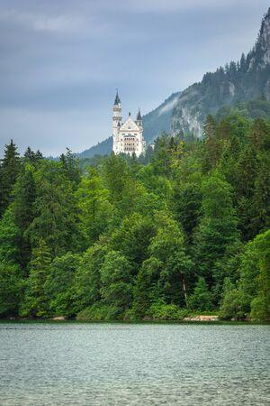 neuschwanstein: Neuschwanstein Castle in the Bavarian Alps, Germany