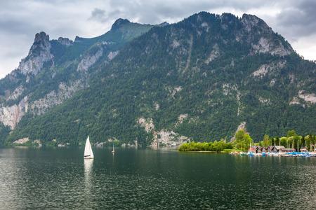 idyllic: Idyllic lake in Alps mountains, Austria Stock Photo