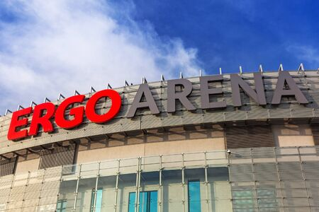 Ergo Arena building on the boundary of two cities - Gdansk and Sopot in Poland