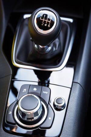 shift: Shift gear of manual gearbox Stock Photo