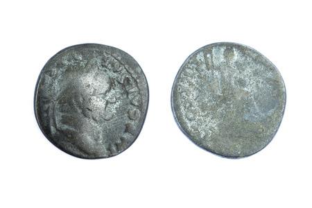emperor: Silver denarius coins from Roman Emperor Vespasian