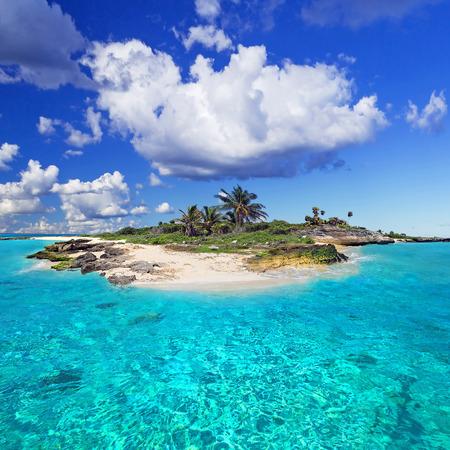 caribbean island: Caribbean island with perfect lagoon