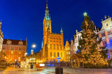the old town hall: Historical city hall in the old town of Gdansk, Poland Editorial