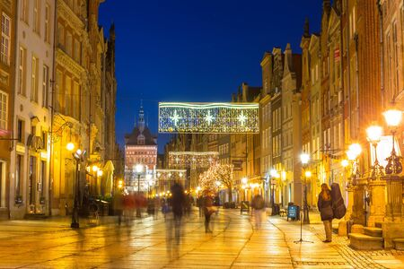 historical architecture: Historical architecture of the old town in Gdansk, Poland Editorial