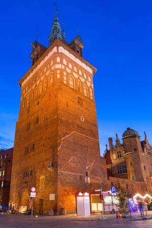 Tower of the medieval torture chamber in Gdansk, Poland