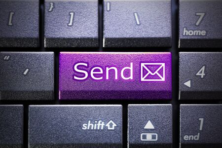 keyboard: Send button on the computer keyboard Stock Photo