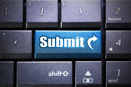 submit button: Submit button on the computer keyboard