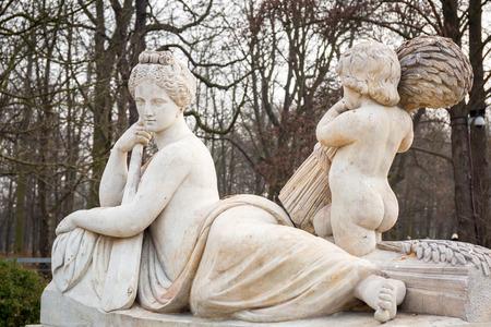 allegory: Allegory of the Vistula river statue in Lazienki Park (Royal Baths Park), Warsaw, Poland