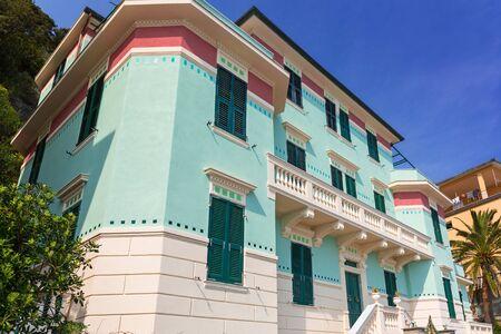 italian architecture: Italian architecture of Monterosso town, Liguria Stock Photo