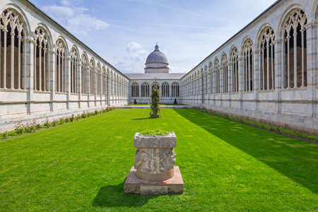 architecture monumental: Architecture of Monumental Cemetery in Pisa, Italy