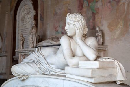 monumental cemetery: Tomb sculptures in the Monumental Cemetery at the Leaning Tower of Pisa, Italy Editorial