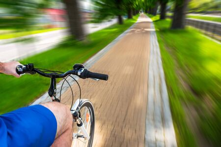 road bike: Bike speeding on the bicycle road