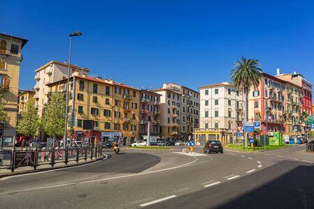 italian architecture: Italian architecture on the streets of La Spezia, Italy Stock Photo