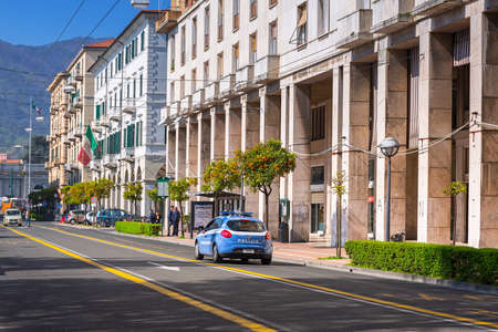 italian architecture: Italian architecture on the streets of La Spezia, Italy Editorial