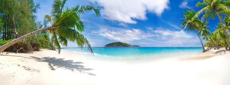 Panorama of the tropical beach in Thailand Stock Photo