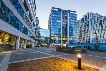Modern buildings architecture of Olivia Business Centre in Gdansk, Poland Editorial