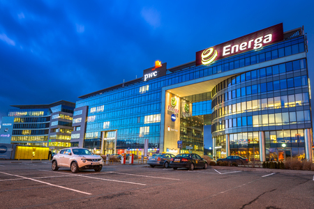 olivia: Modern buildings architecture of Olivia Business Centre in Gdansk, Poland Editorial