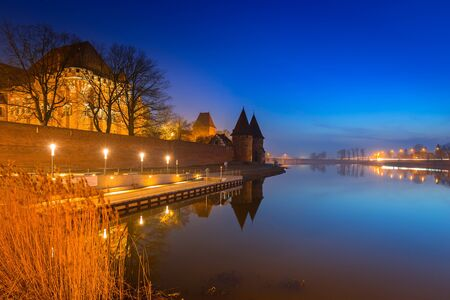 order in: The Castle of the Teutonic Order in Malbork at dusk, Poland Editorial