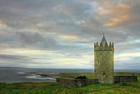 doolin: Doonagore castle in Ireland Editorial