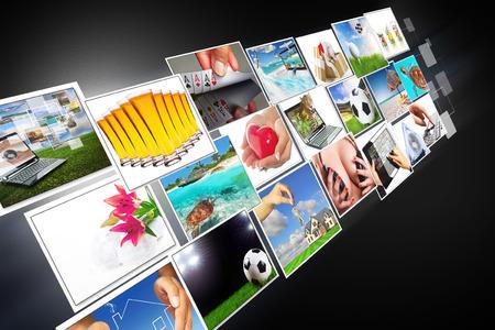 widescreen: Streaming multimedia widescreen Stock Photo