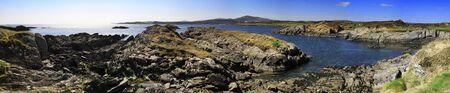 co cork: Coastline in Co. Cork panorama, Ireland Stock Photo