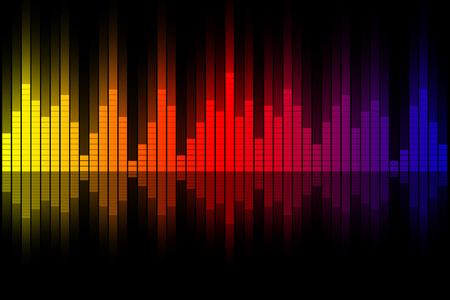 analyzer: Music equalizer wave