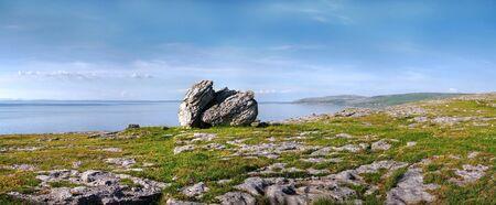 burren: Burren stone panorama