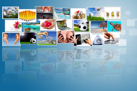 streaming: Streaming multimedia widescreen Stock Photo