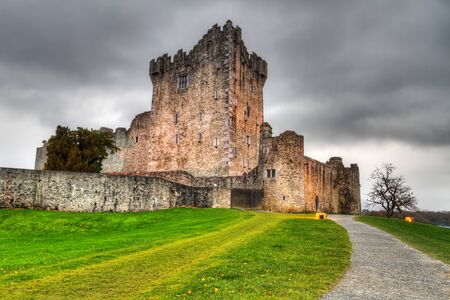kerry: Ross Castle near Killarney, Co. Kerry, Ireland Stock Photo