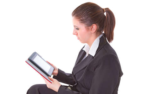 electronic book: Businesswoman reading on electronic book