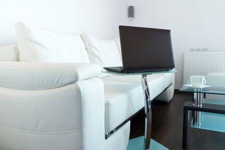 modern living: Modern living room interior Stock Photo