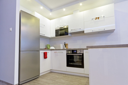 violet residential: Modern kitchen interior