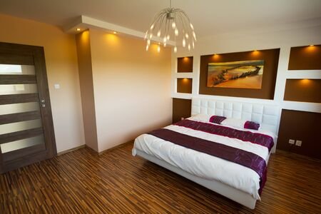 bedsheet: Modern master bedroom interior
