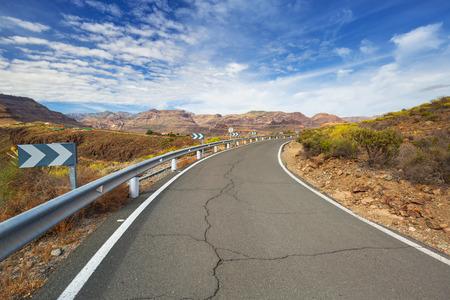 Road through the mountains of Gran Canaria island, Spain