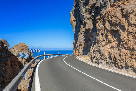 gran canaria: Coastline road on Gran Canaria island, Spain