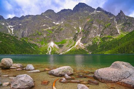 morskie: Eye of the Sea lake in Tatra mountains, Poland