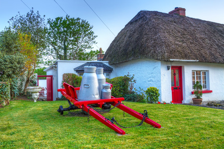 Village of traditional cottage houses in Adare, Ireland Stockfoto
