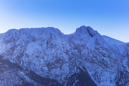 giewont: Mount Giewont in Tatra mountains at winter, Poland