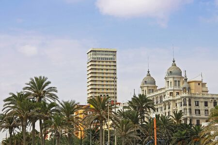 Alicante city on the coast of Costa Blanca in sunny day, Spain