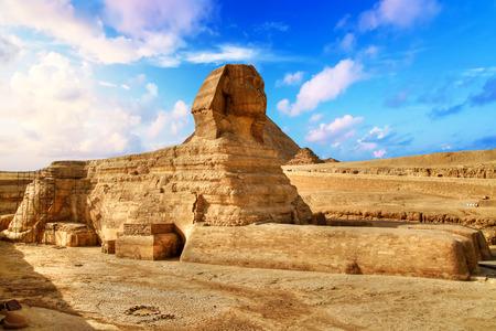 Egyptian Sphinx in Giza near Cairo Stock Photo