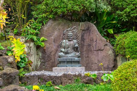 Buddist statues of Hase-dera temple in Kamakura, Japan. Stock Photo