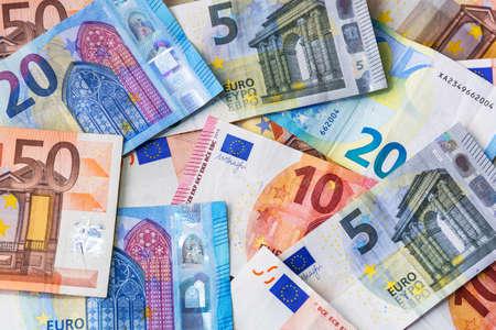 Euro money banknotes on the desk Stock Photo - 75205961