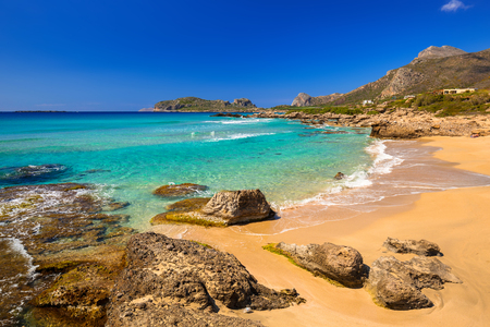 Beautiful Falassarna beach on Crete, Greece